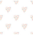 hand drawn heart seamless pattern collection of vector image vector image
