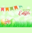 happy easter card banner flyer invitation vector image vector image