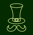 hat and mustache stpatrick s day vector image vector image