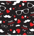 Hipster symbols Valentines Day background vector image