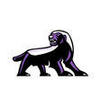 honey badger full body mascot vector image vector image