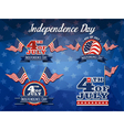 Independence Day Badge Collection vector image vector image