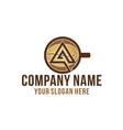 initial a mug coffee bean coffee shop logo vector image vector image