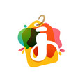 j letter logo with sale tag icon watercolor vector image vector image