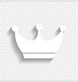 king crown sign white icon with soft vector image vector image