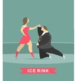man and woman dancing on ice vector image