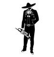 mariachi musician with trumpet vector image vector image