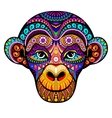 Monkey Head 2016 Tribal colorful design It may vector image