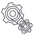 motor settingsengine line icon sign vector image vector image