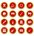 musical instruments icons set simple style vector image vector image