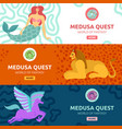 mythical creature banners vector image vector image