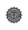 oktoberfest celebration beer festival retro style vector image