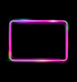 pink colorful neon shiny glowing vintage frame vector image