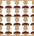 porcini seamless pattern vector image vector image