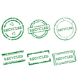 Recycled stamps vector image vector image
