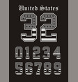 set number texture usa black white vector image vector image
