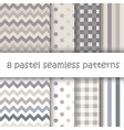 set of geometric seamless pattern in pastel colors vector image vector image