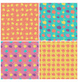 set of seamless colorful pattern with kettle vector image vector image