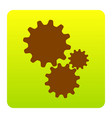 settings sign brown icon at vector image vector image