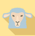 sheep head icon flat style vector image