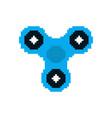 spinner pixel art fidget finger toy pixelated vector image vector image