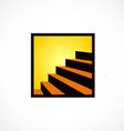 stair interior design abstract logo vector image