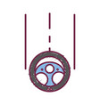 steering wheel car element to can drive vector image vector image