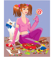 sweet tooth girl vector image