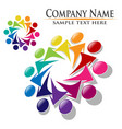 Teamwork union people logo vector image