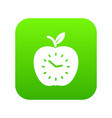 time apple icon green vector image