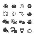 tomato icon set vector image vector image