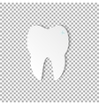 tooth dental on transparent background vector image vector image