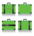 travel suitcase set in green vector image vector image