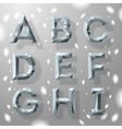 Trendy grey fractal geometric alphabet part 1 vector image vector image