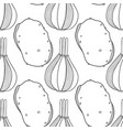 vegetables black and white seamless vector image vector image