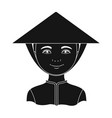 vietnamesehuman race single icon in black style vector image vector image