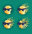 virtual reality goggles low poly design vector image vector image