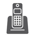 wireless telephone glyph icon appliance vector image vector image