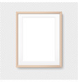 wood picture frame isolated transparent background vector image vector image