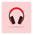 flat icon headphones vector image