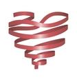 Heart from ribbon vector image