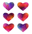 Set of colorful hearts EPS 10 vector image