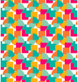 abstract colourful seamless patten with shapes on vector image