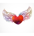 Abstract heart with wings EPS 10 vector image