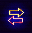 back forward arrow neon sign vector image