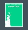 bavaria statue munich monument landmark brochure vector image