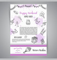 birthday party doodle posters template vector image