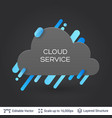 black badge cloud sticker vector image