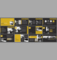 black gold presentation templates and vector image vector image