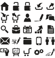 black web icons vector image vector image